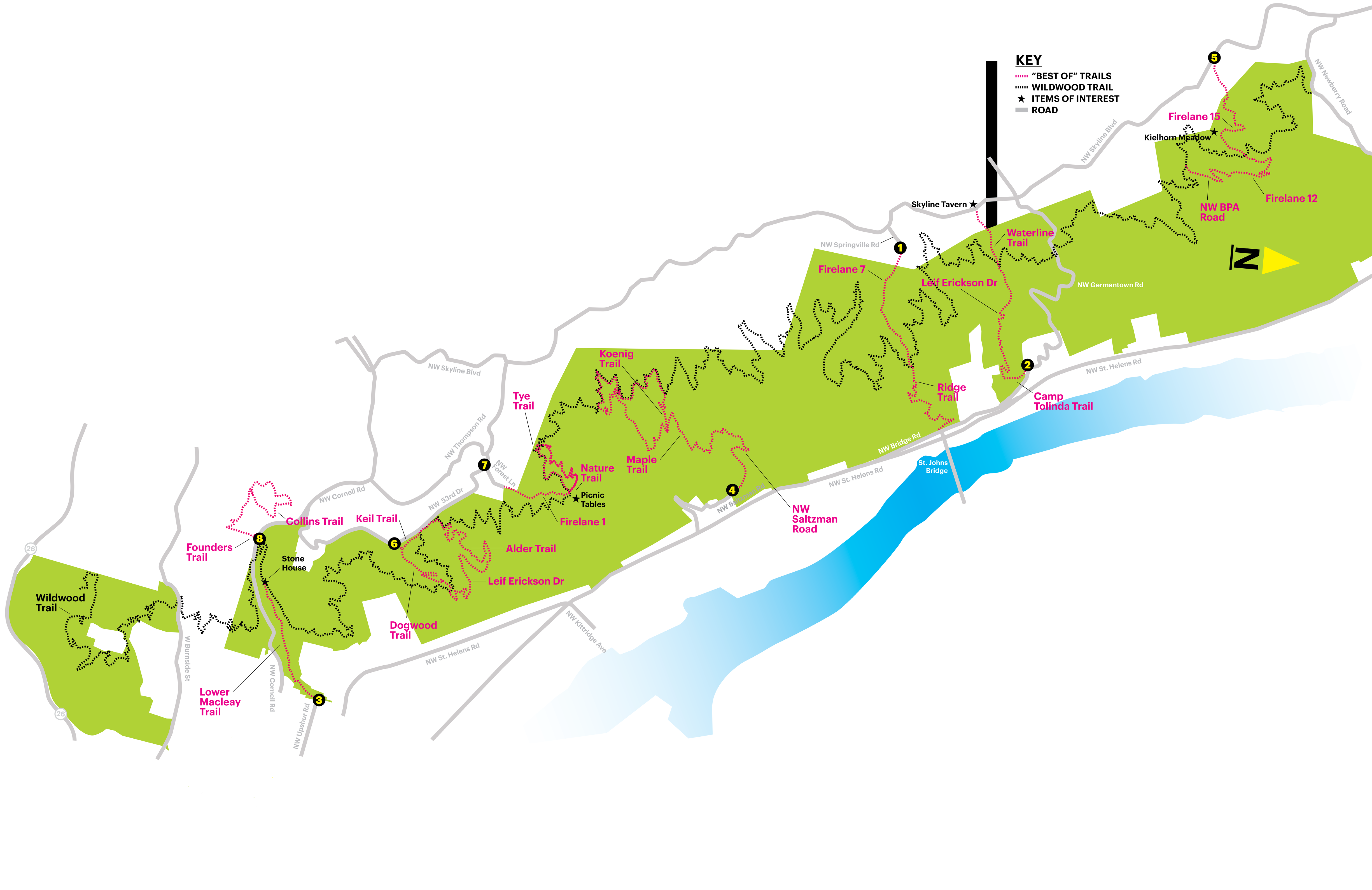 Forest Park Oregon Map 8 Essential Forest Park Hikes | Portland Monthly
