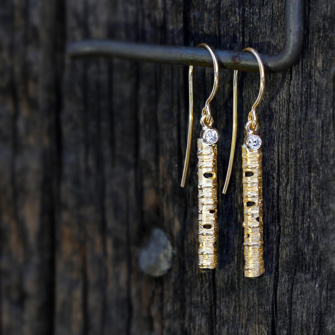 Sarah Grahams Aspen Tree BarkBased Jewelry Line Aspen Sojourner