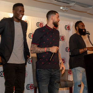 new arrival 61f44 3e8e5 Clint Capela Launches His Foundation With Help From Celebrity Teammates