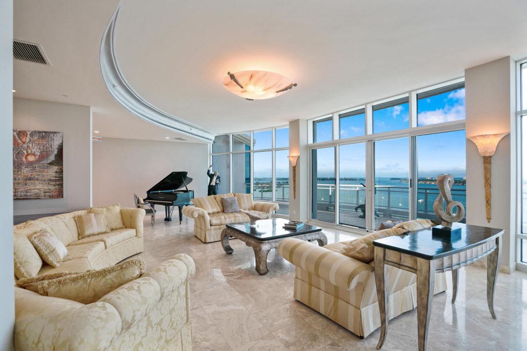 Entertaining area in Sarasota penthouse