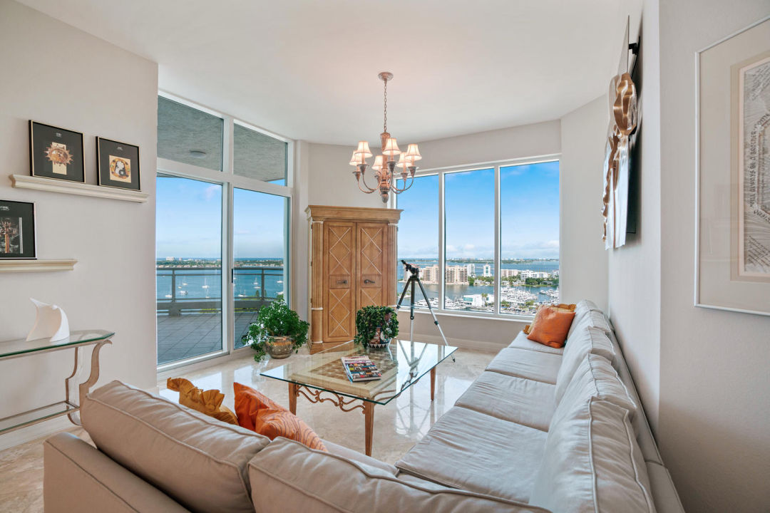Family room in Sarasota Penthouse