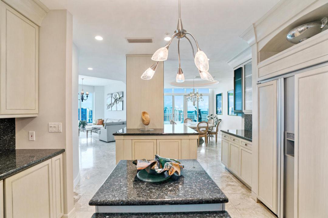 Kitchen in Sarasota penthouse