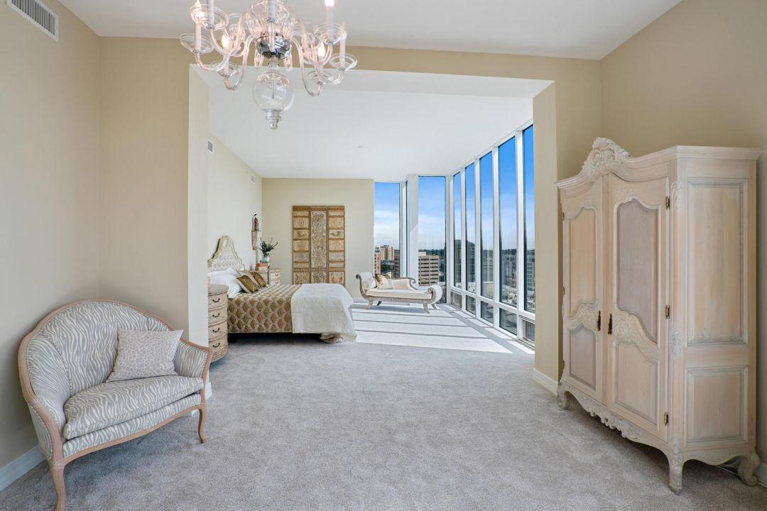 Master bedroom in Sarasota penthouse