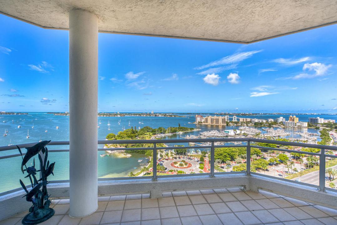 View from Sarasota penthouse terrace