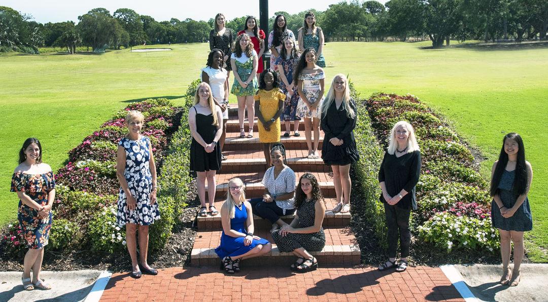 Scholarship recipients at The Oaks Club