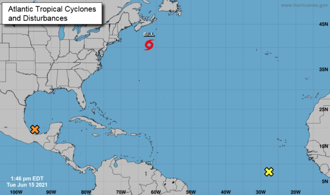 There are three tropical disturbances in the Atlantic right now.