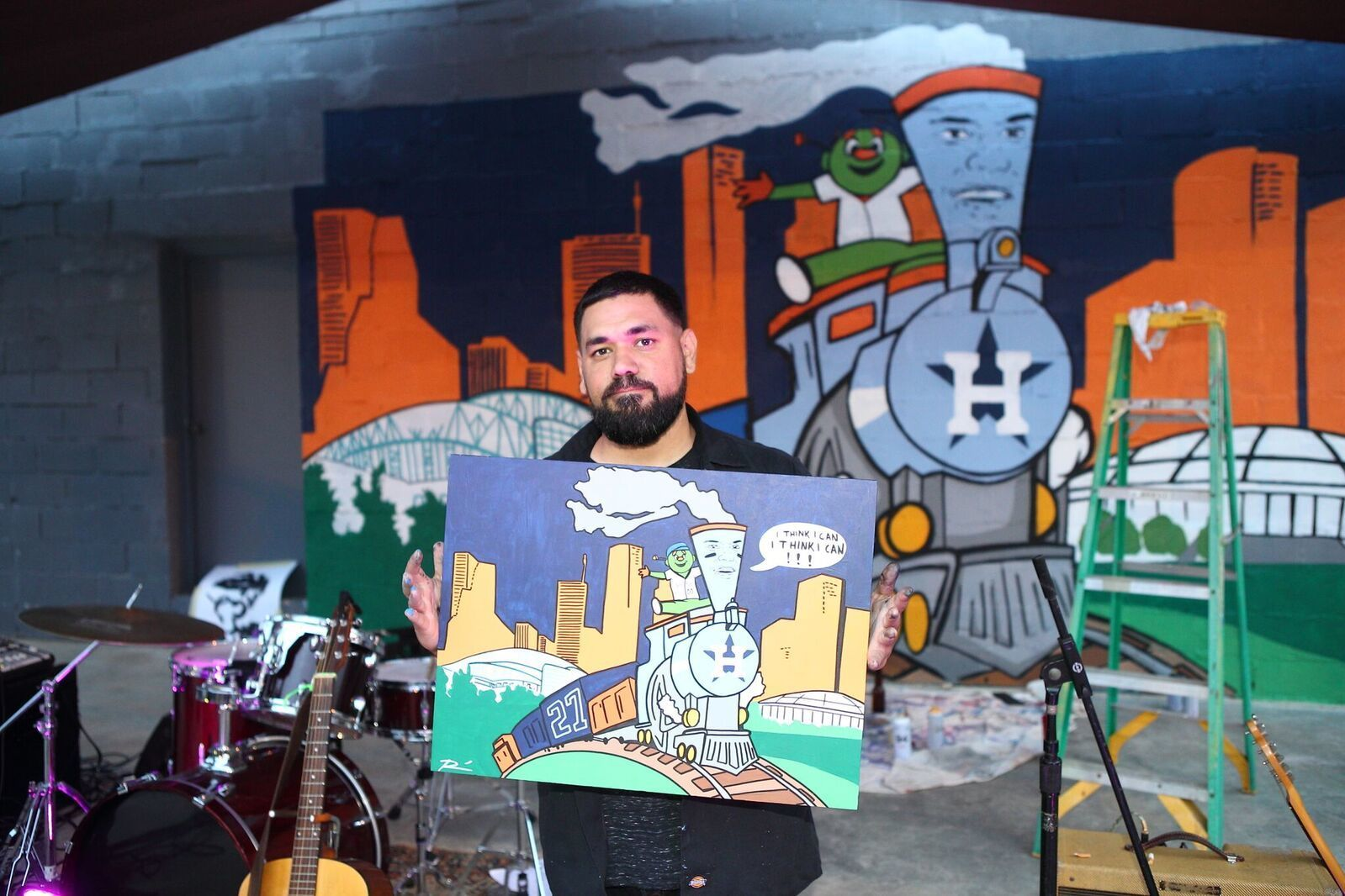 Donkeeboy alex roman jr with mural and original artwork preview a7hbi3