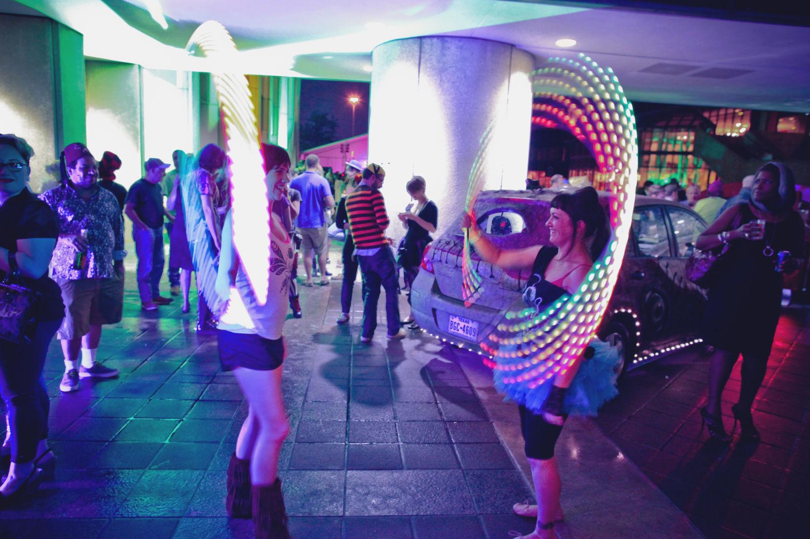Hula hoopers at the art car ball m1vdne