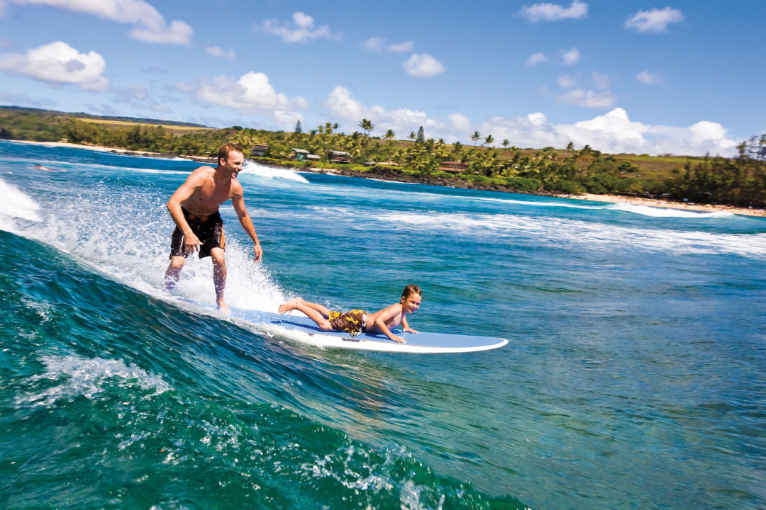Father and son surfing ypdnvd