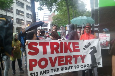 Strike poverty outside columbia tower kc95fw
