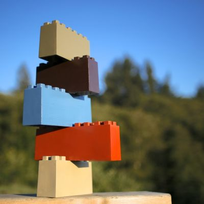 Stacked blocks   5 colors wovccb
