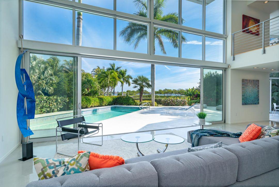Siesta Key home living room