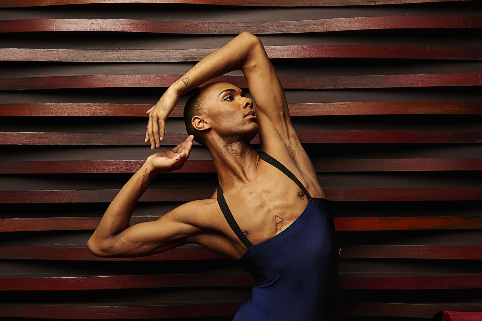 Alvin ailey american dance theater s sean aaron carmon in south africa. photo by andrew eccles  vmg1lm