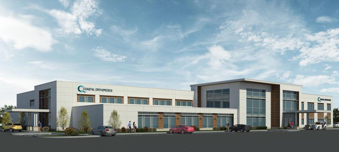A rendering of Coastal Orthopedics' new facility.