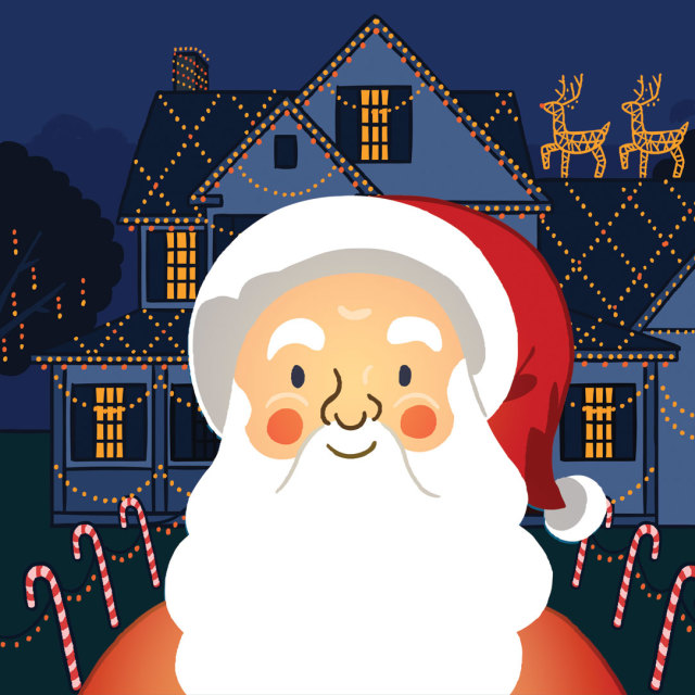 1215 reasons to love winter illo santa claus christmas decorations tm2dt6