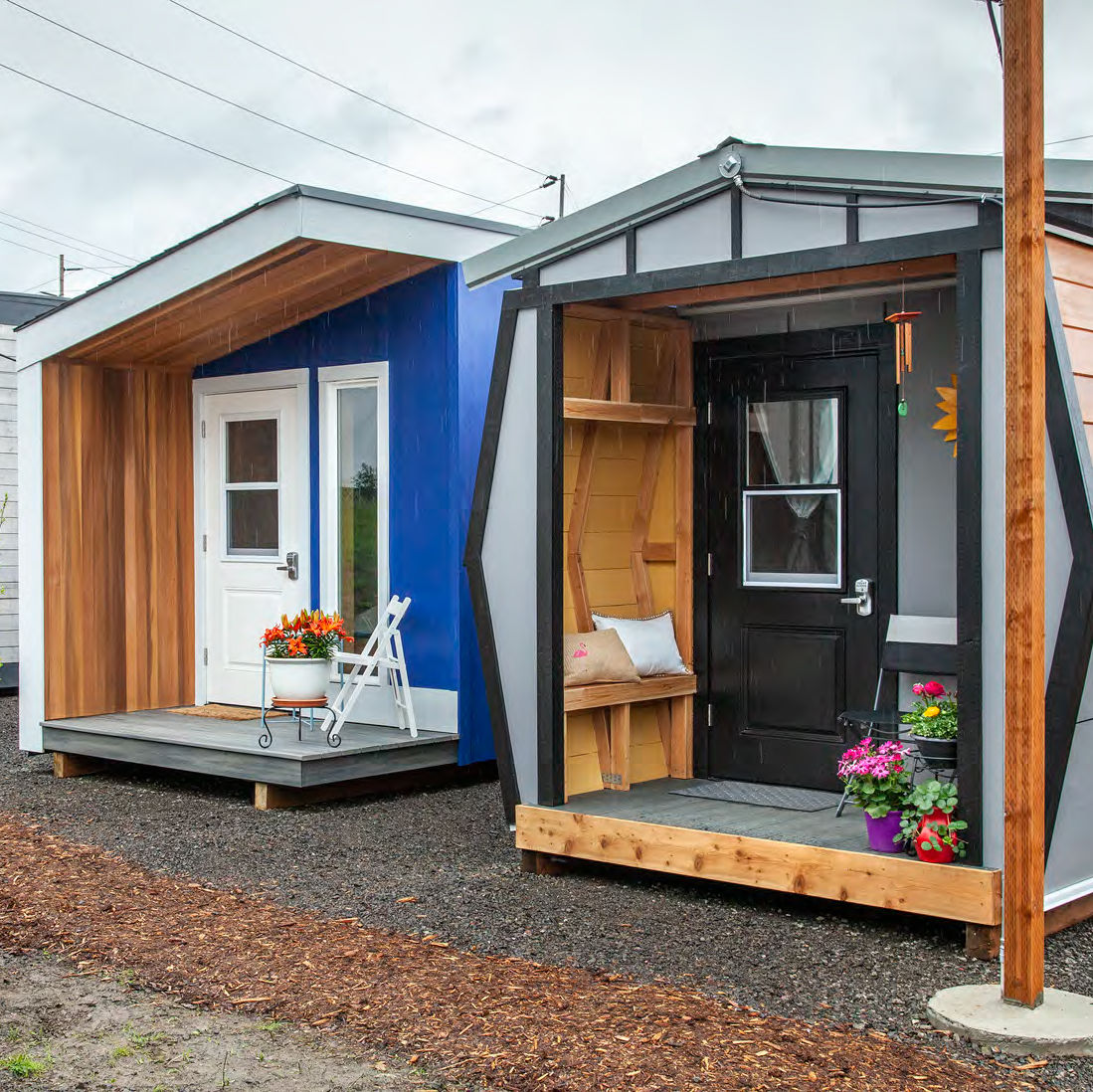 """These Tiny Home-Inspired """"Sleeping Pods"""" Provide Shelter for"""