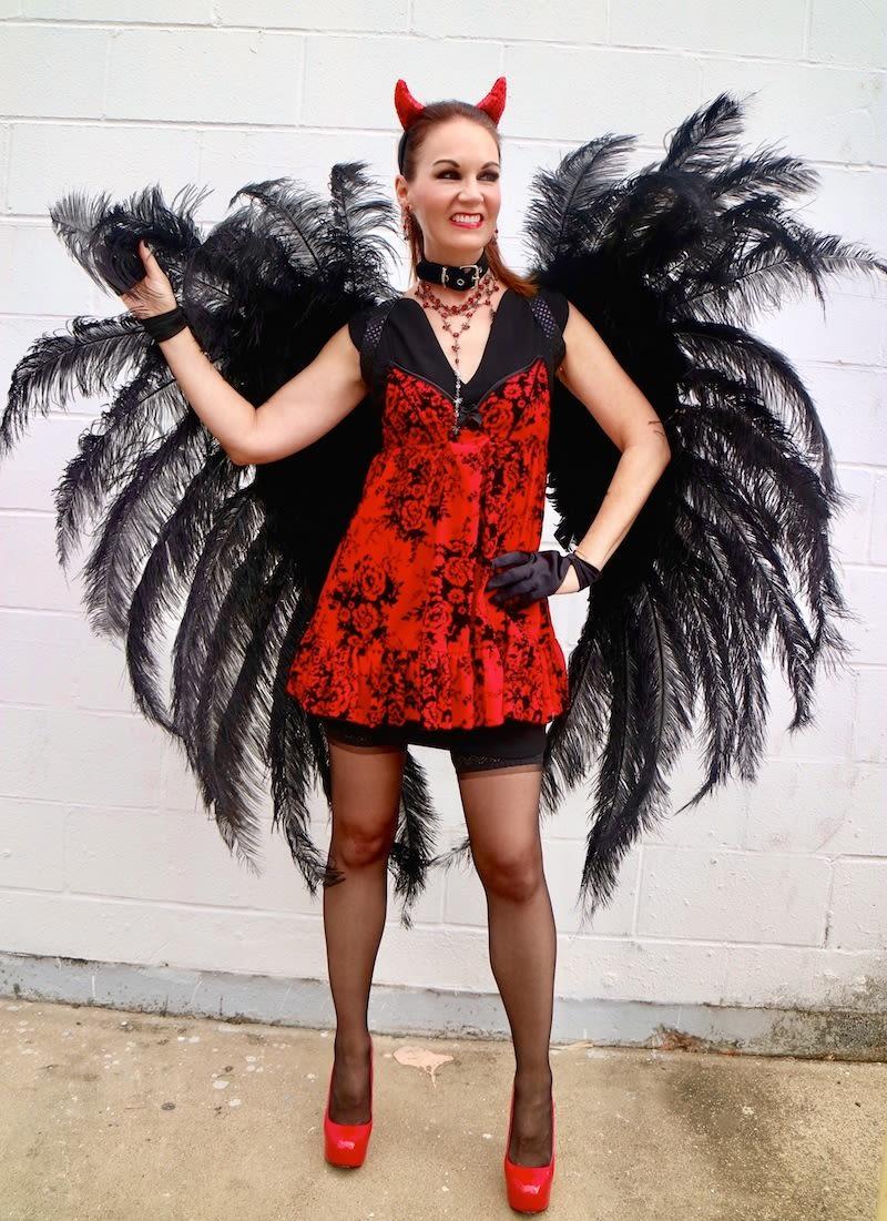 the traveling black dress: halloween fallen angel edition | houstonia