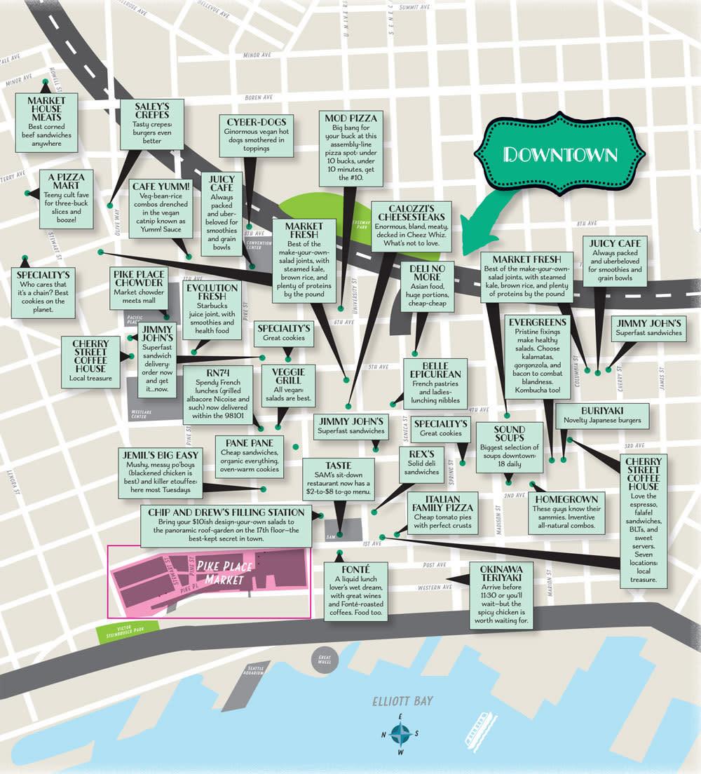 Downtown lunch spots map ay1bi3