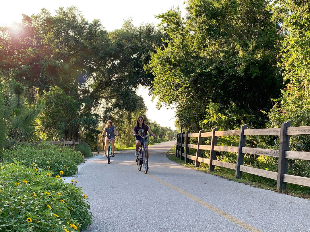 Bicyclists on the Legacy Trail