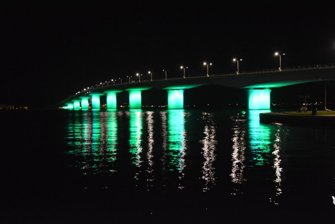 The John Ringling Causeway Bridge will light up with rainbow-colored lights for Pride Month