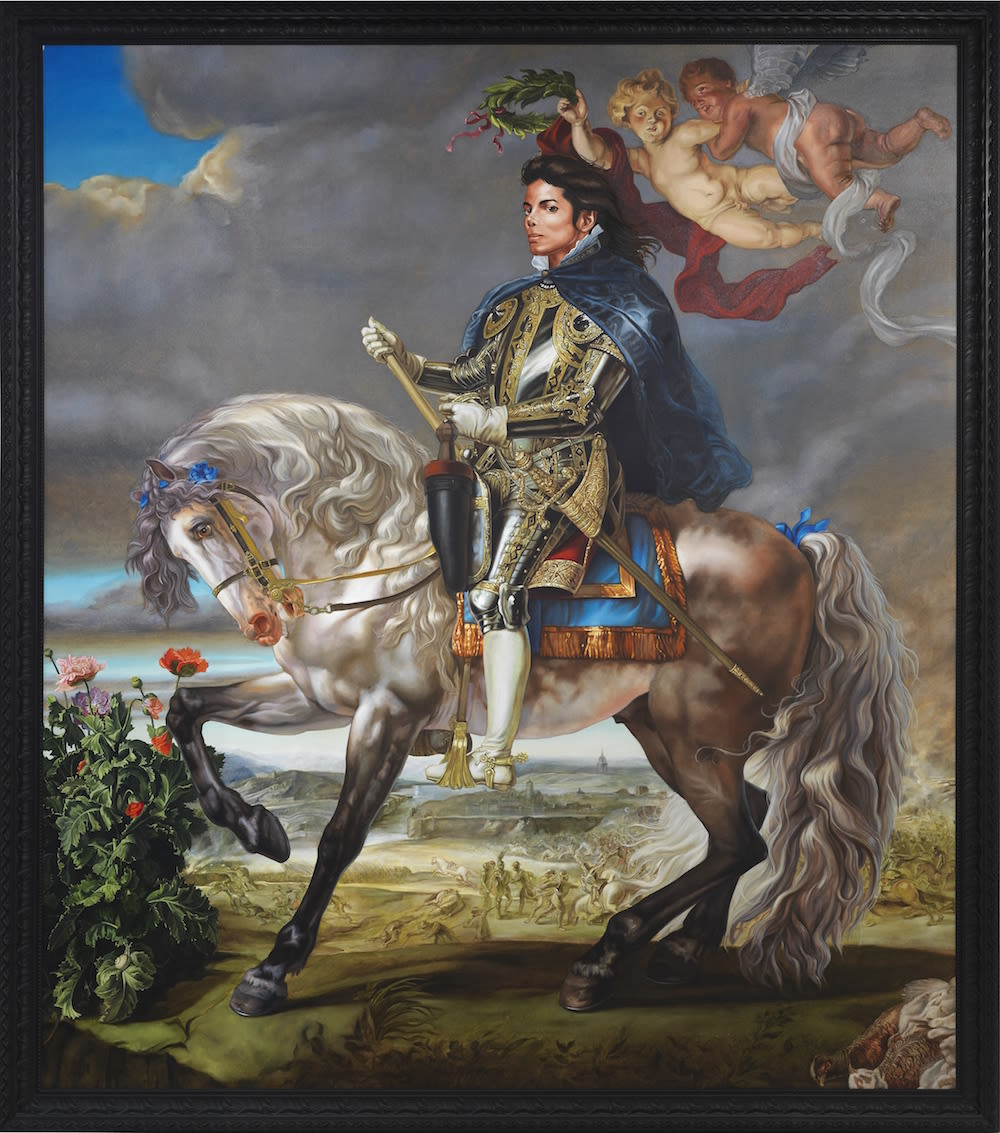 Wiley equestrian portrait of king philip ii  after rubens  michael jackson  de11md