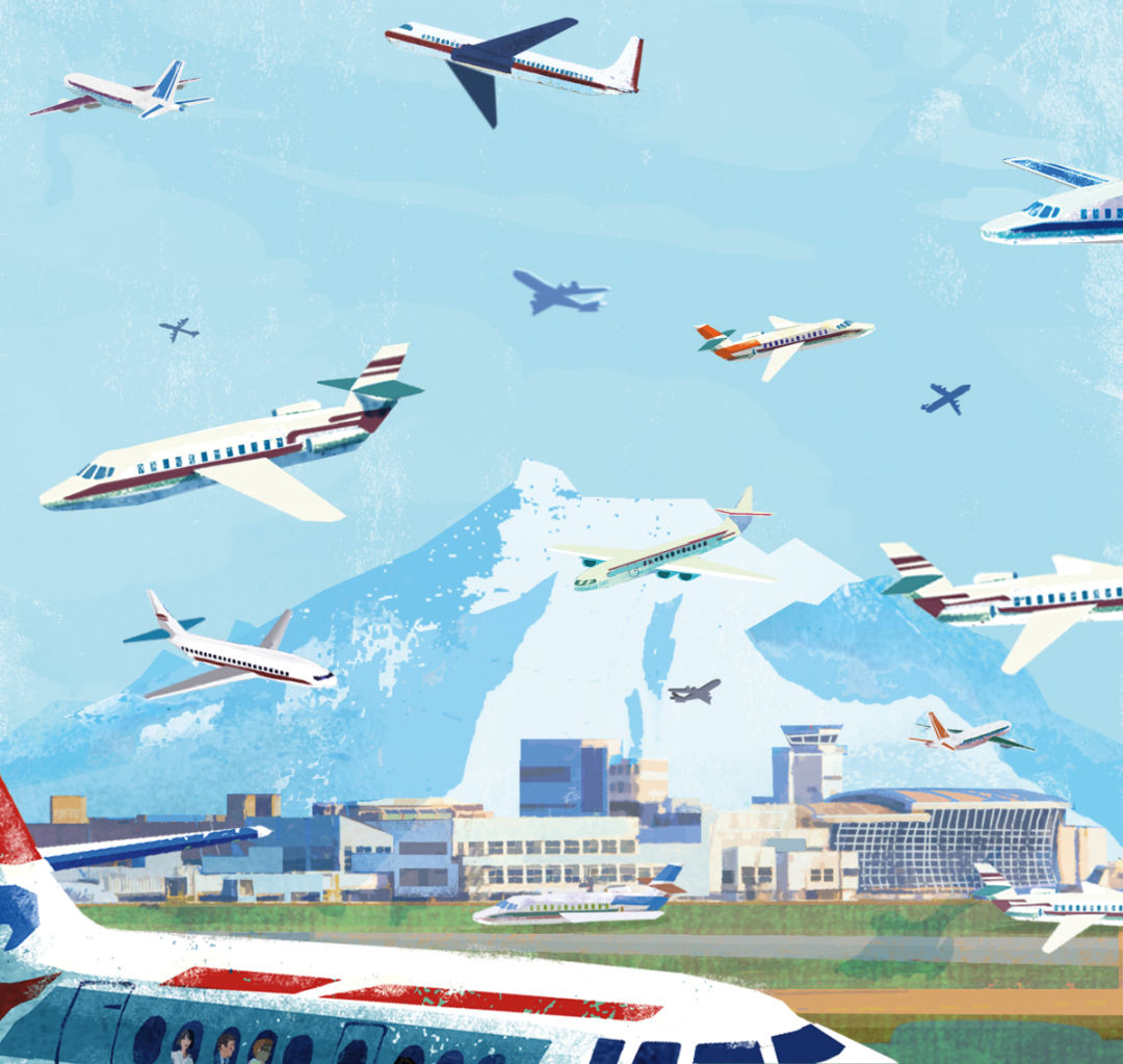 Interior illustration airport    eva va zquez  mg9ner