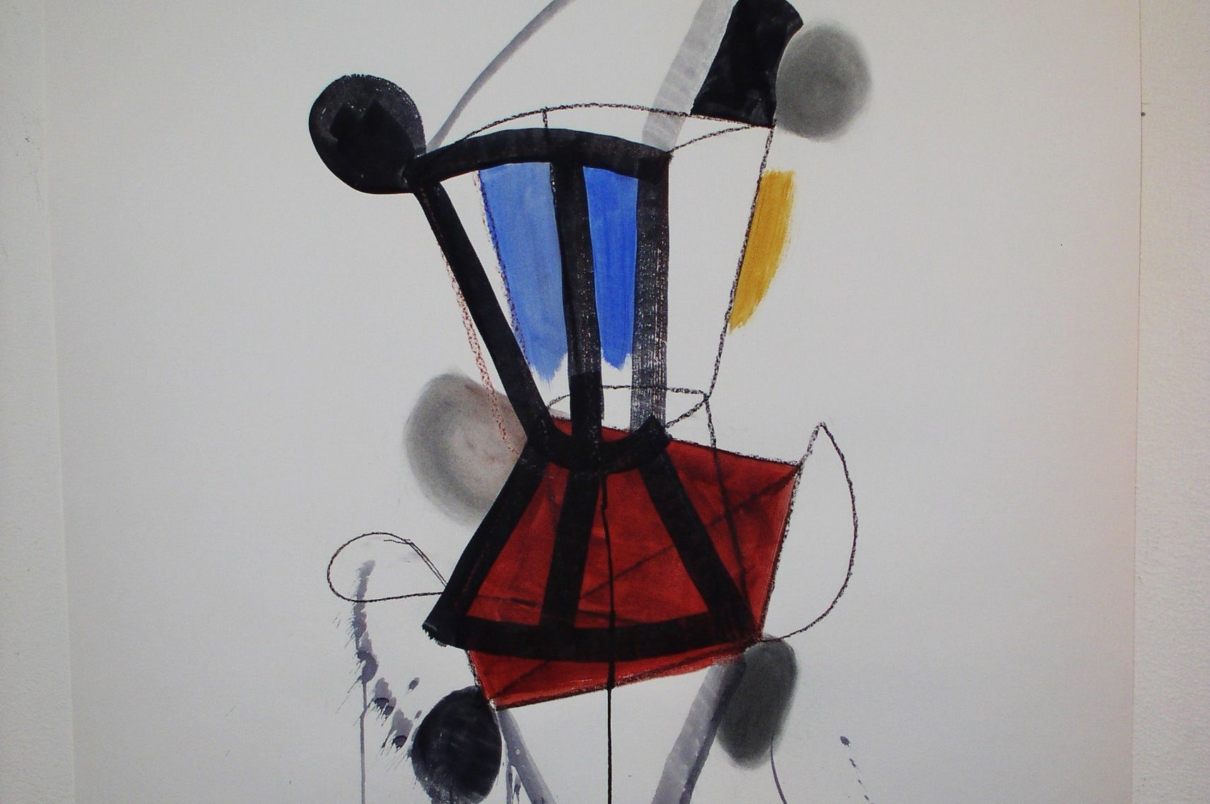 Soul catchers chair   2  2011 36x48 inch. mixed media on paper. q2e7xj