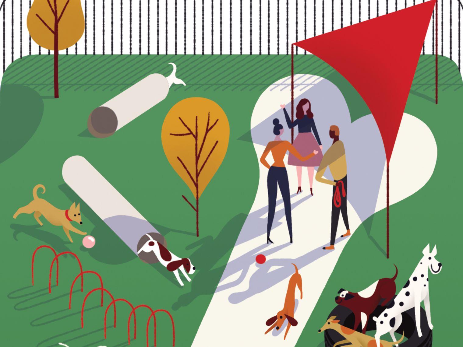 Pomo 0217 pets dog park illustration ie4k9z
