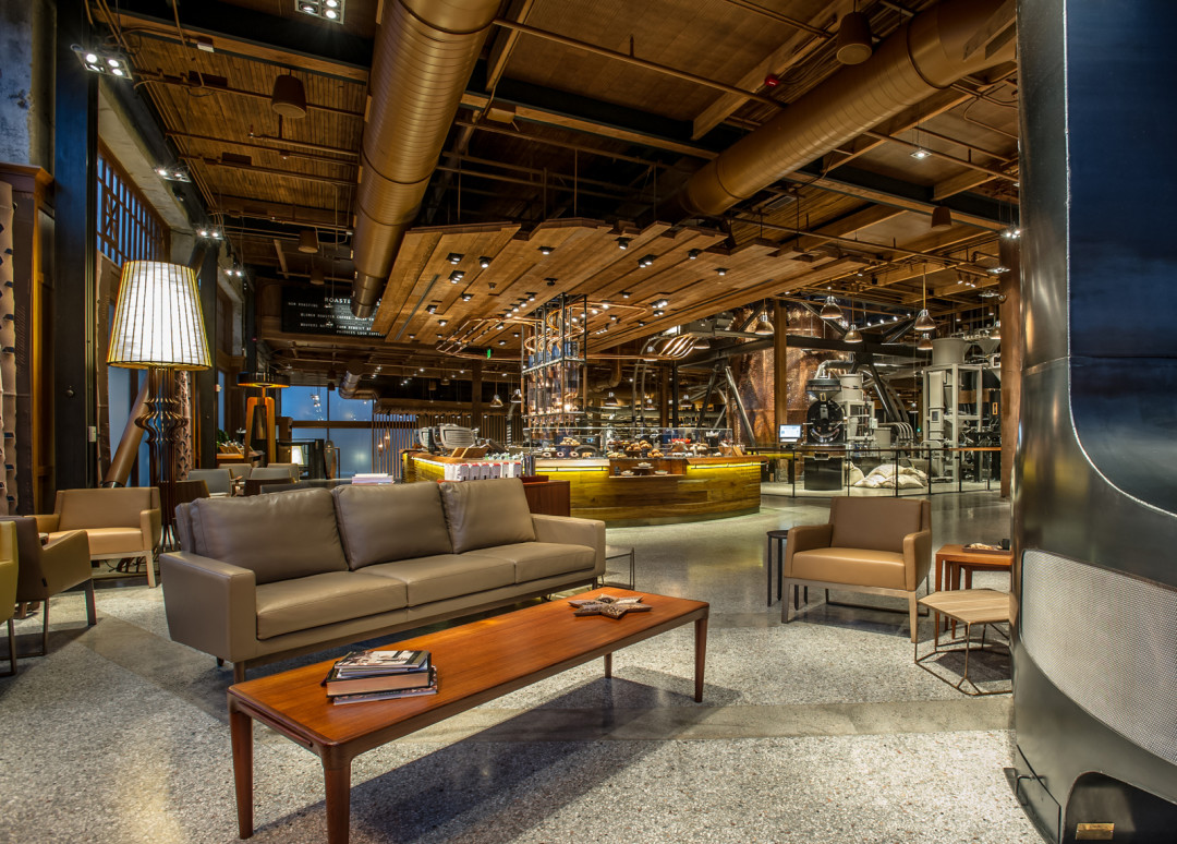 Starbucks reserve roastery and tasting room entry seating boxuwl