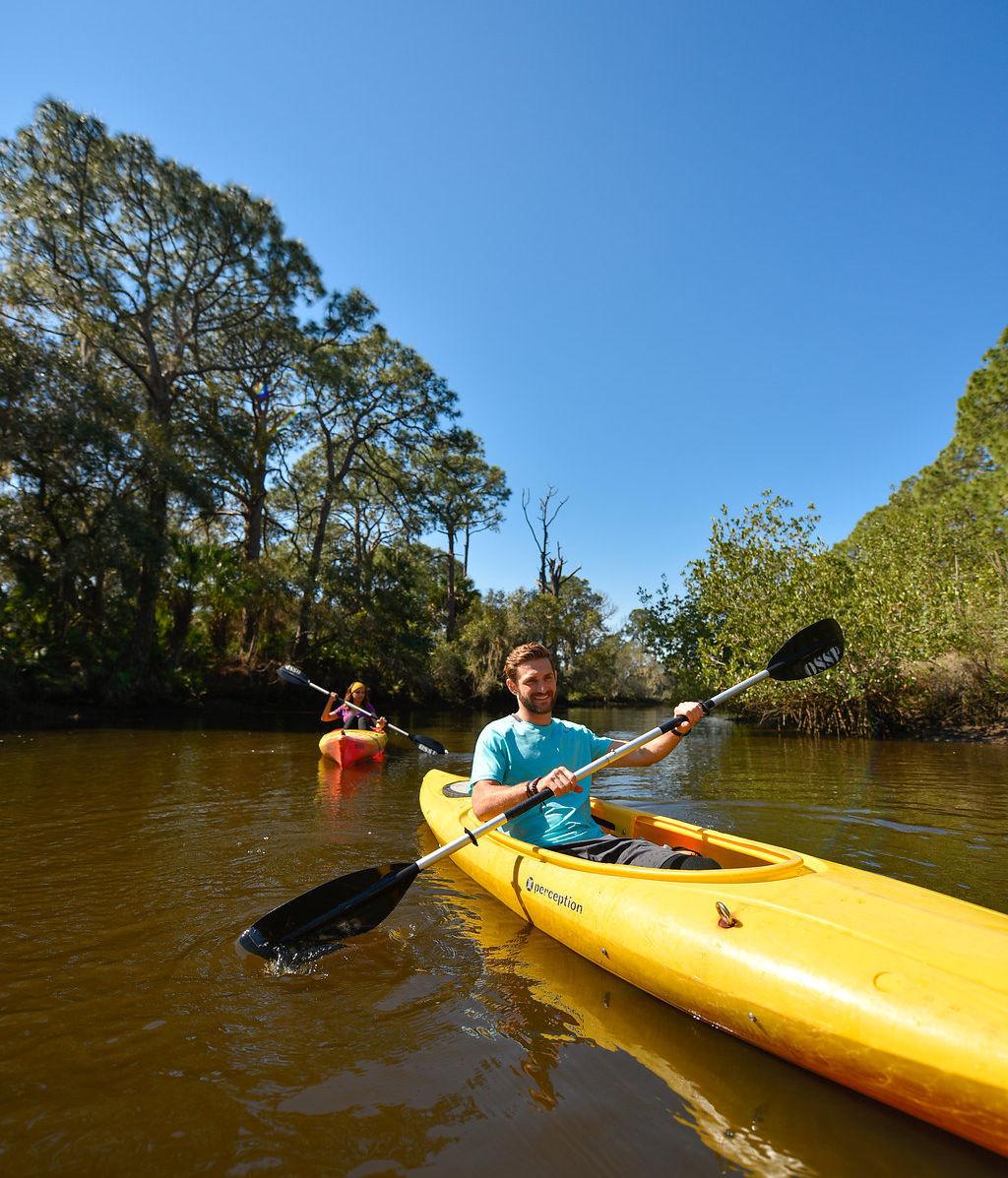 Kayakers at Oscar Scherer State Park