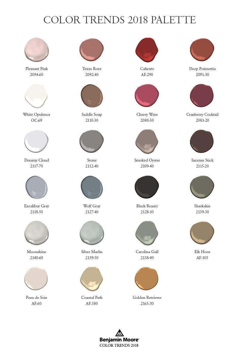 Benjamin moore 2018 color palette rh3n38