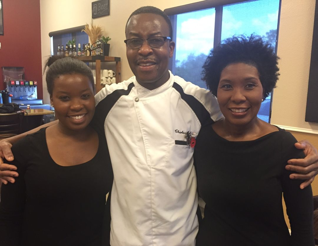 Chef Charles Amherst His Wife Andrea Right And Daughter Ashley Serve Up Southern And Caribbean Cuisine At Chaz51