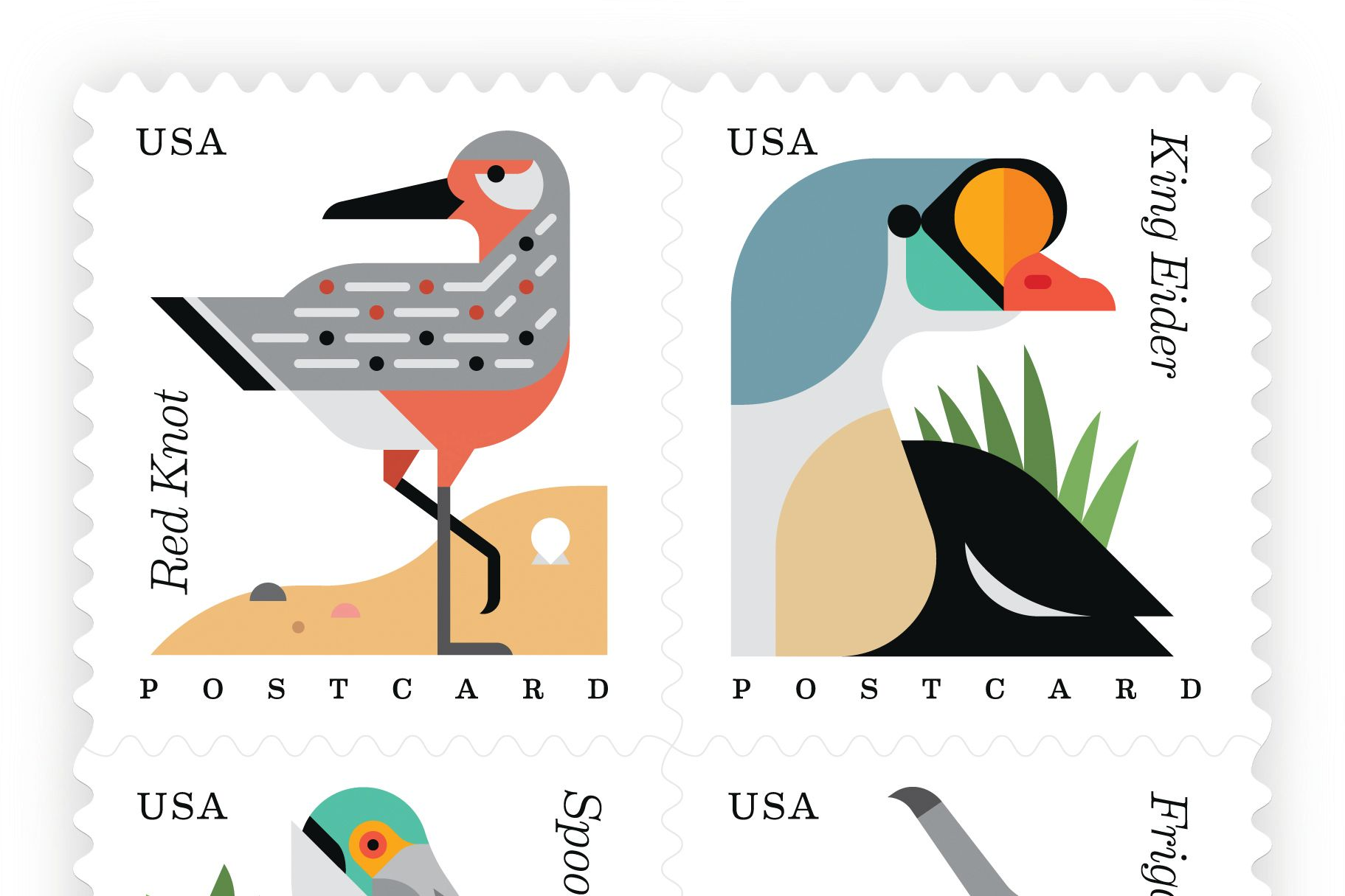 Usps coastal birds shadow zyppuc