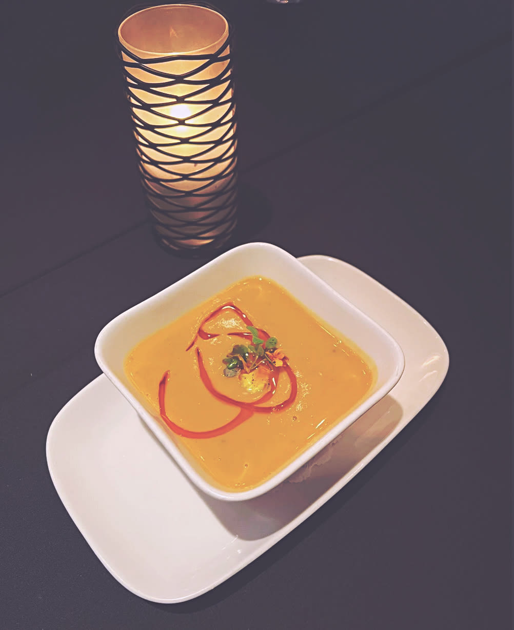 Chef Jose Luis Chavez's sweet potato ginger soup is perfect for fall