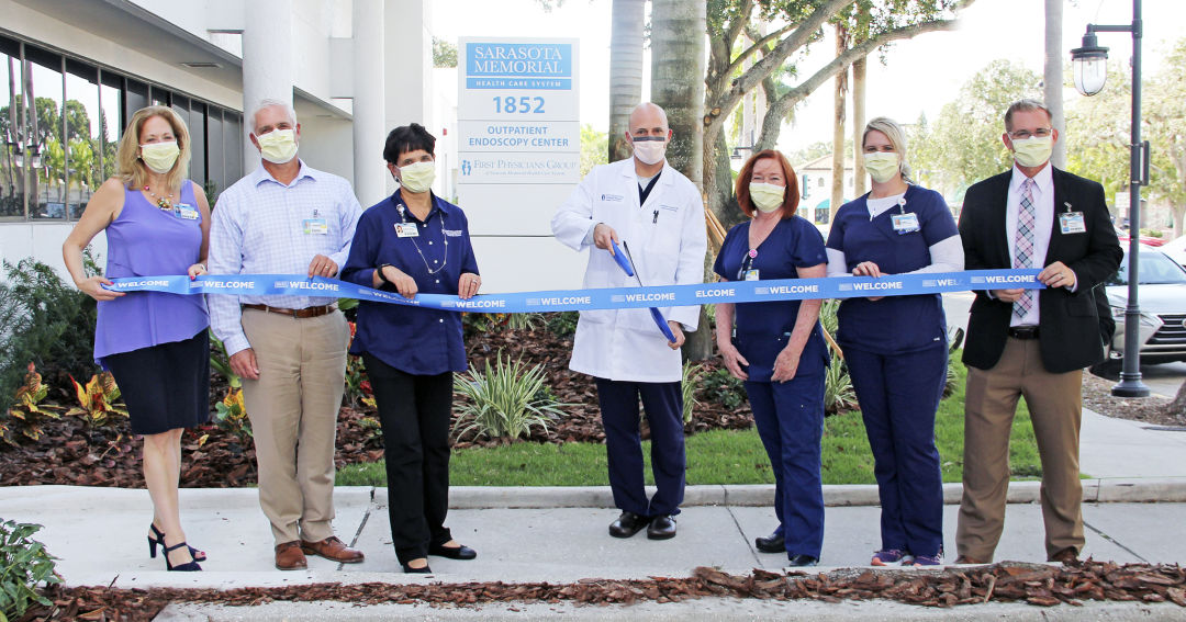 The ribbon-cutting for Sarasota Memorial's new outpatient endoscopy center.
