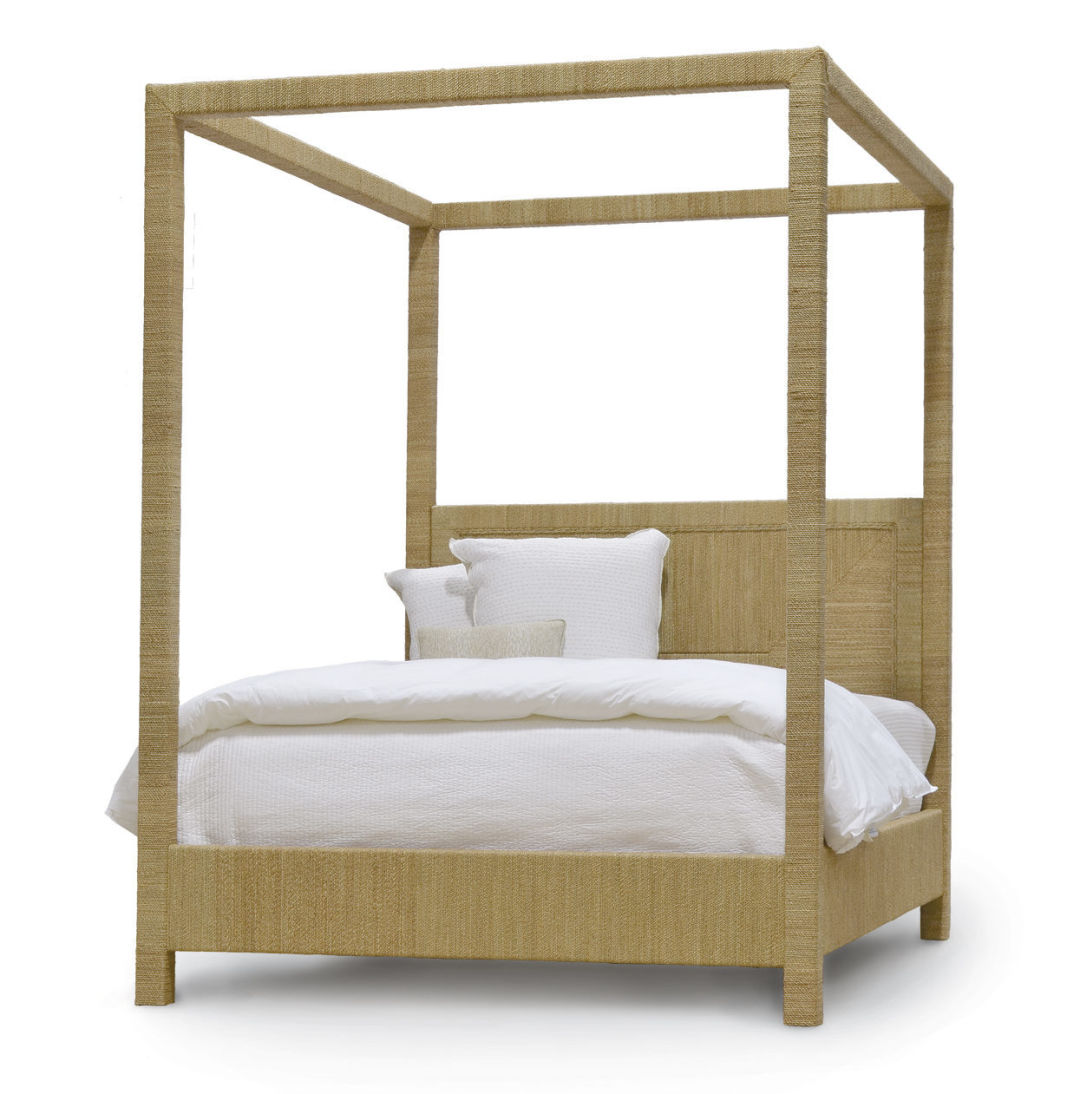 Woodside woven canopy bed ux13qc