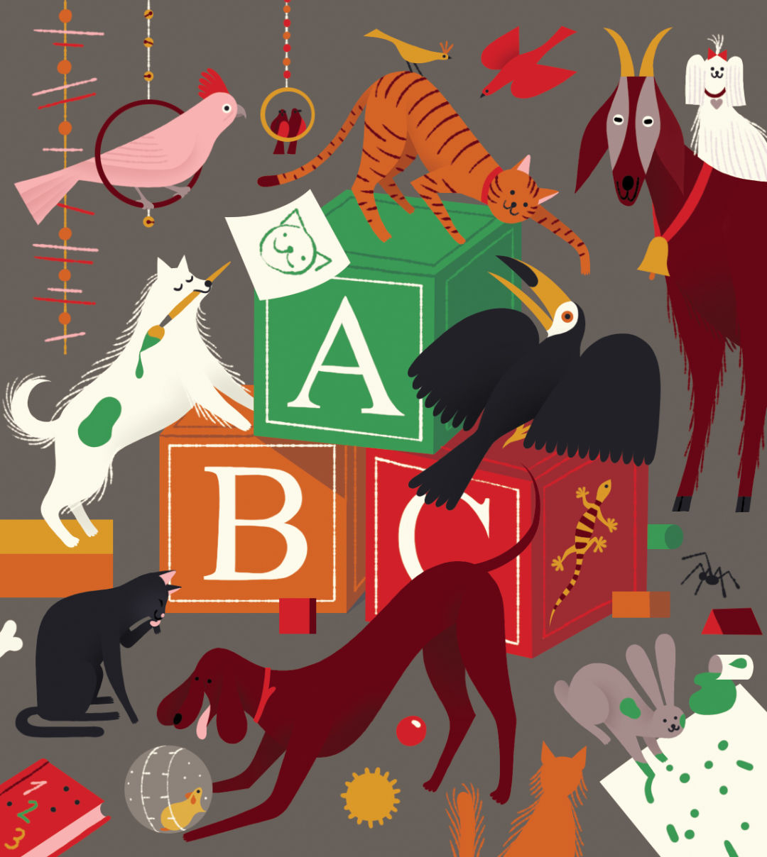 Pomo 0217 pets abc blocks animals illustration y4pmbi