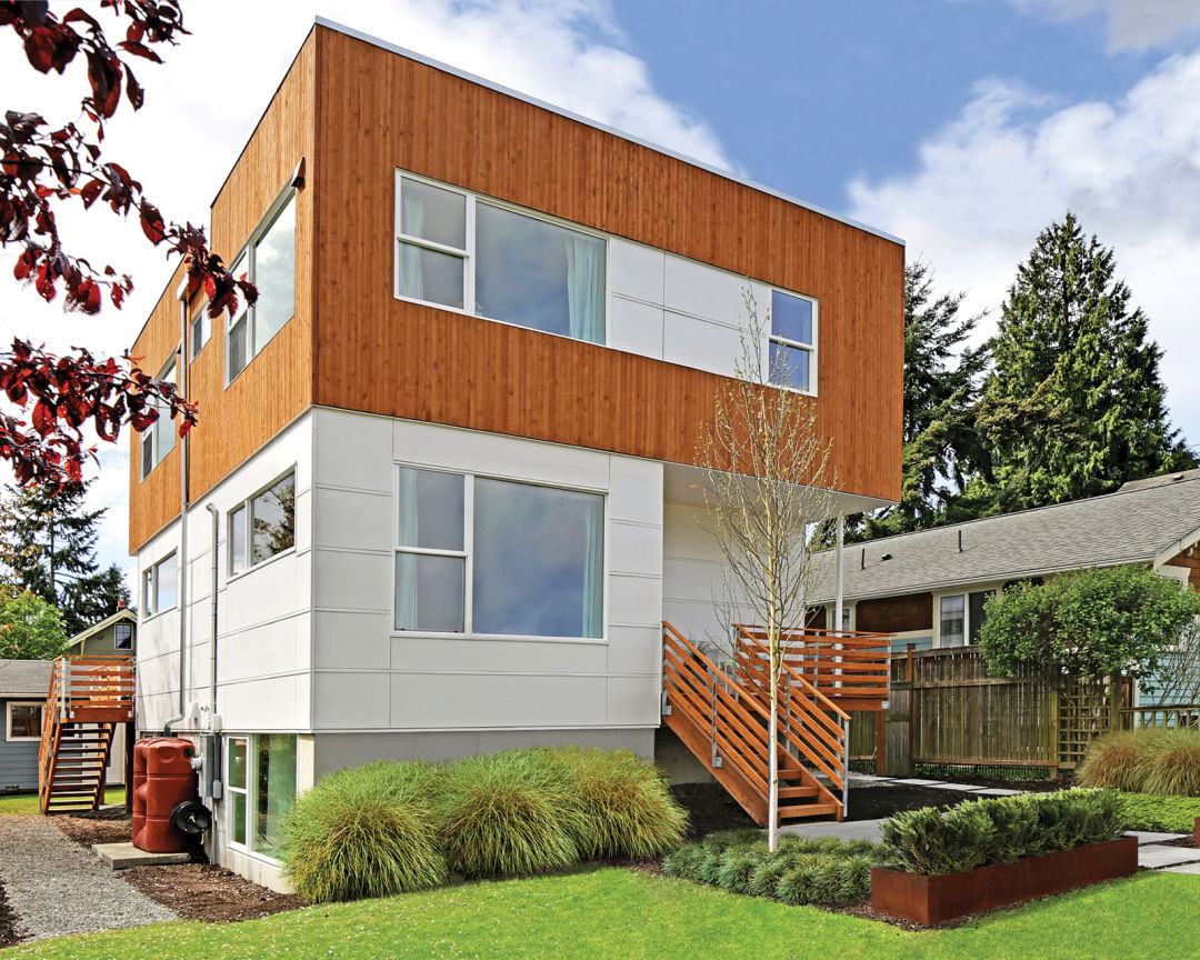 A modern eco friendly prefab home in greenwood seattle met for Prefabricated homes seattle