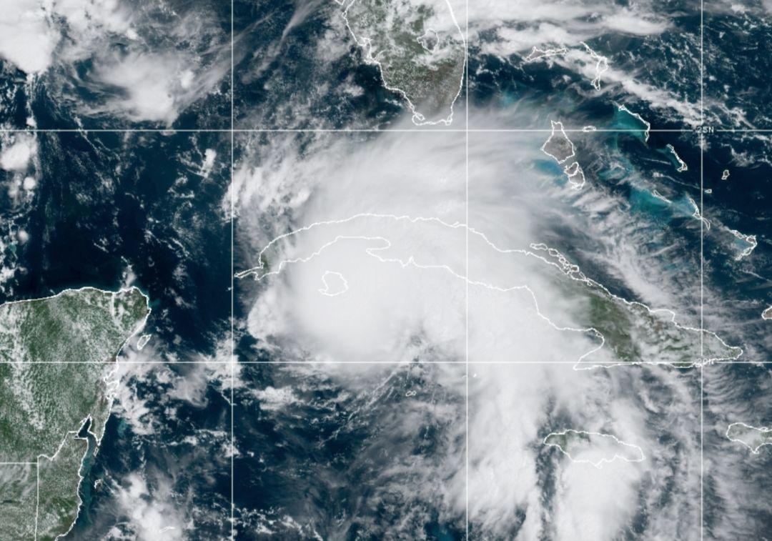 Hurricane Ida on Friday, Aug. 27, 2021