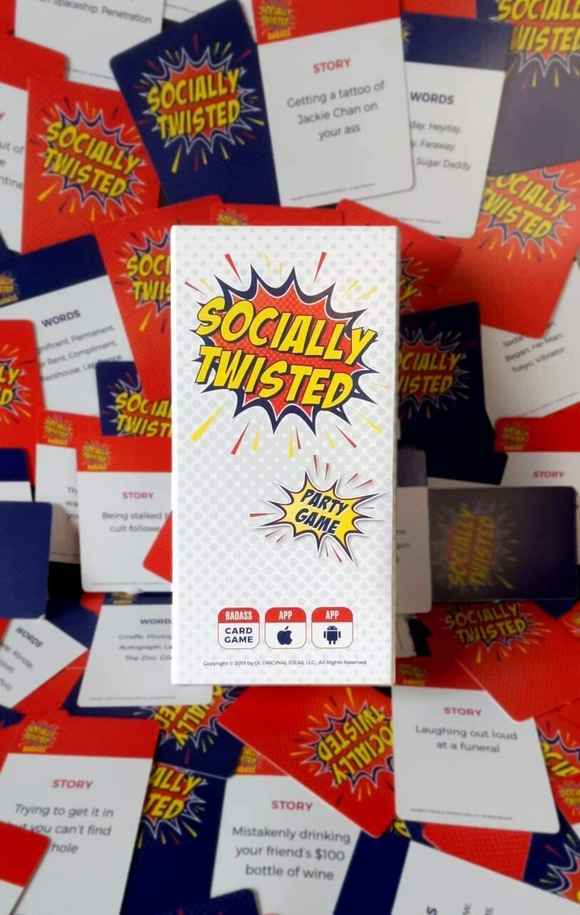Socially Twisted can be played in person or virtually through an app.