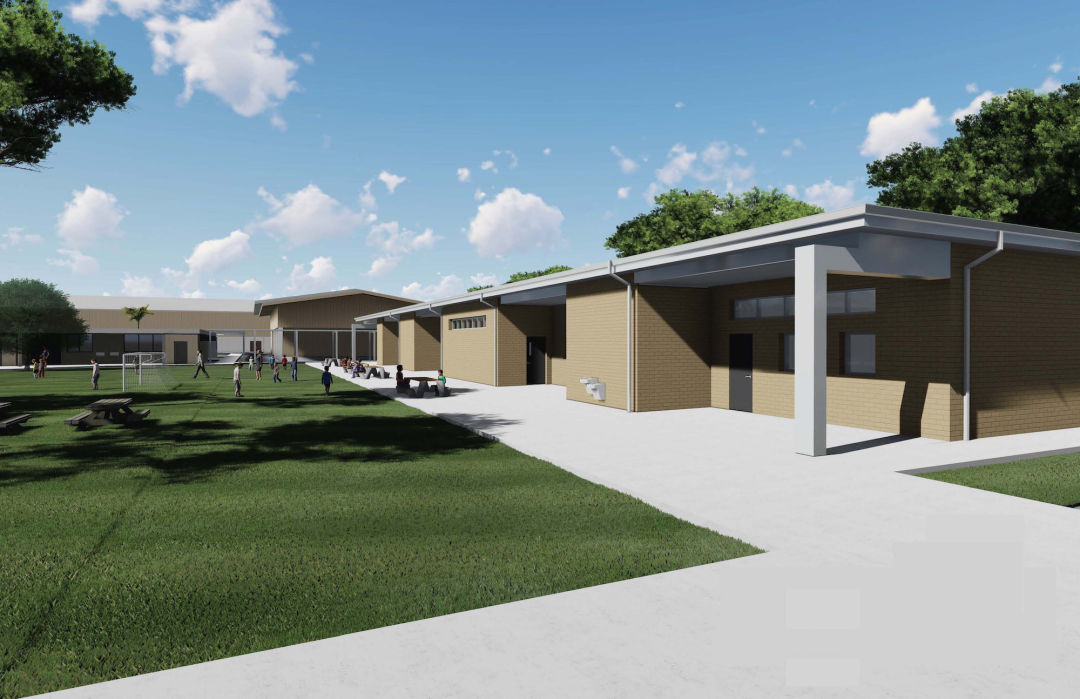 A rendering of Englewood Elementary School's new addition.