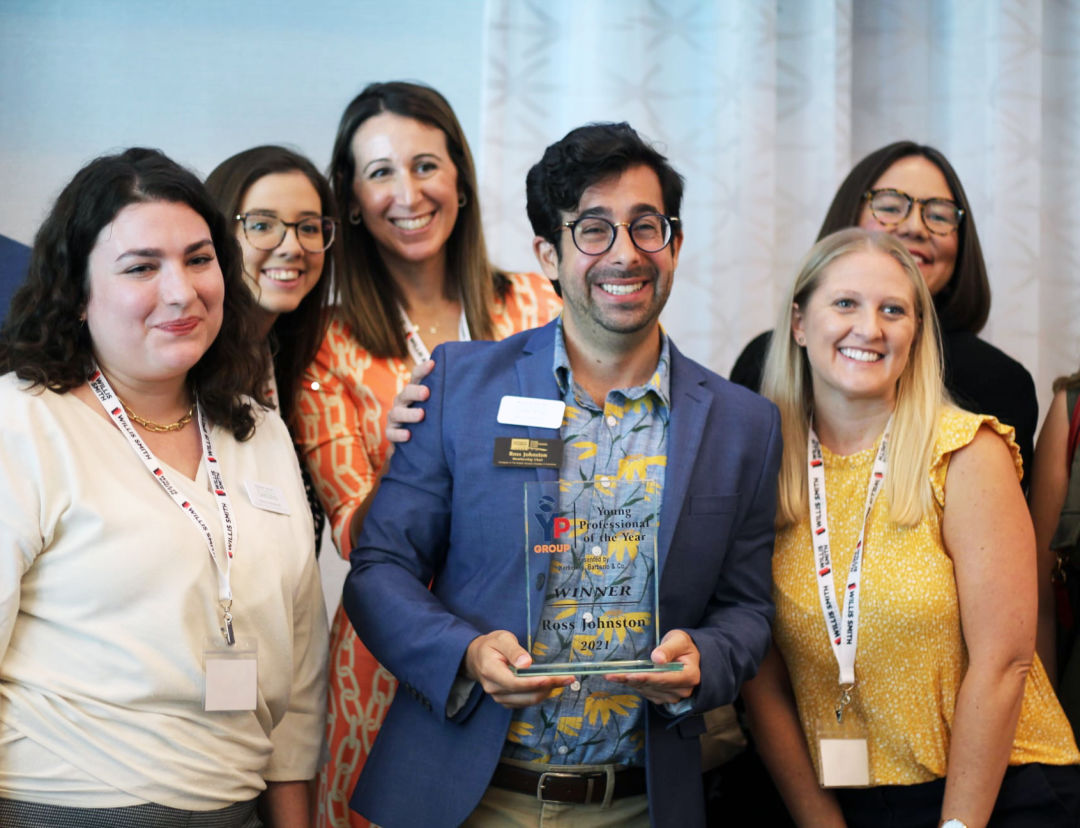 Ross Johnston was named the 2021 Young Professional of the Year