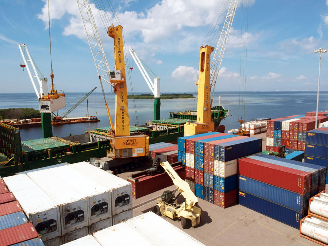 Containerized cargo trade through Port Manatee is on the rise.