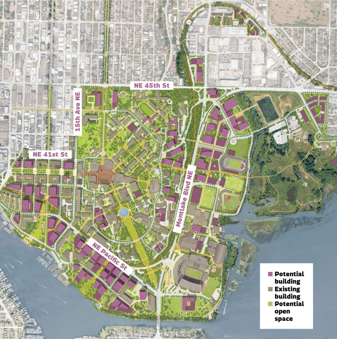 How the University of Washington Plans to Grow in the Next ... U Of Portland Map on nottingham university psychology building map, u of portland logo, downtown portland map, pdx campus map, college of the holy cross map, portland oregon map, u texas map, u mary map, portland chinatown map,