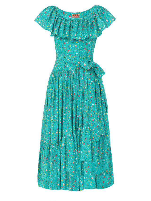 Lhd 01 jungle island dress blurry ditzy teal small au3ydx