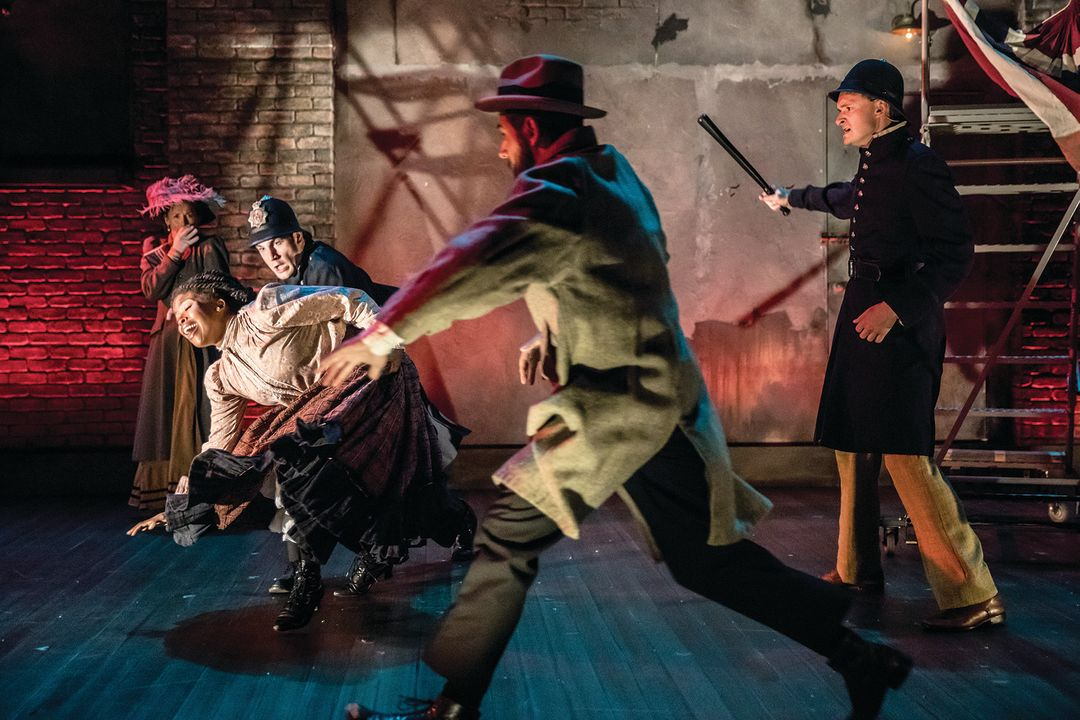 Britta ollmann  traci allen shannon  daniel s. hines  sasha andreev  and riley mcnutt in the theater latte  da production of ragtime. photo by dan norman. yz2pz0