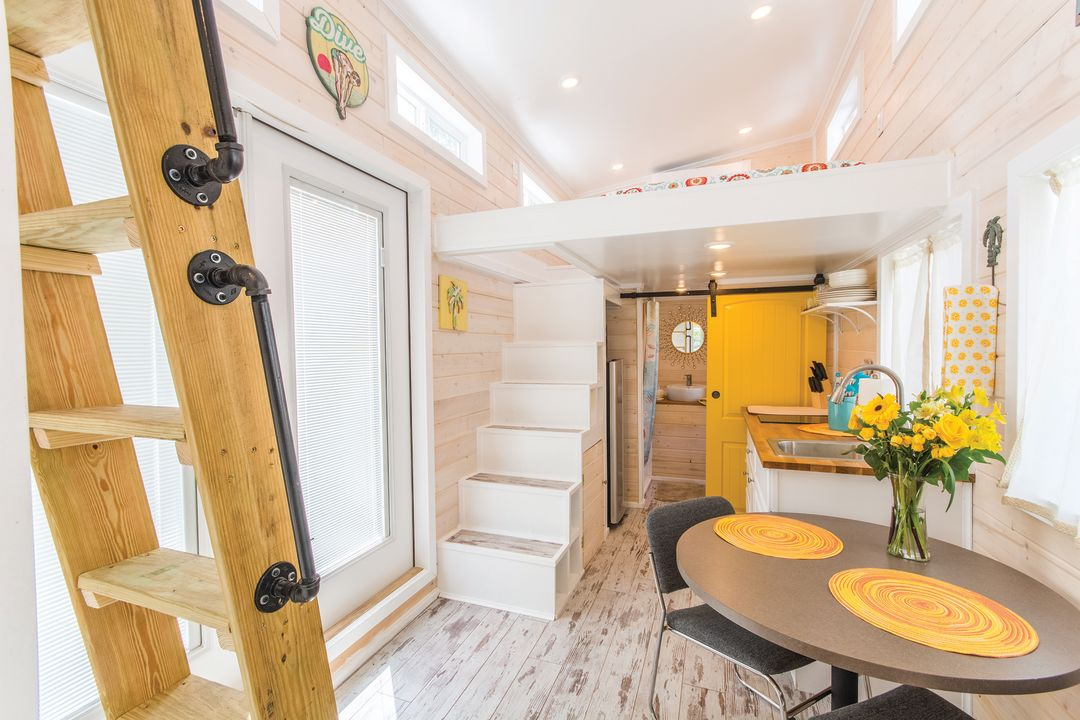 Tinyhouse yellowlifeguard interior  ry3xbt