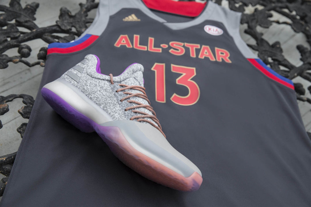 """ba52e6b9132d Adidas hardenvol1 nobrakes bw0549 5 gyyf6k. James Harden will be wearing  the new """"No Brakes"""" colorways at the All-Star ..."""