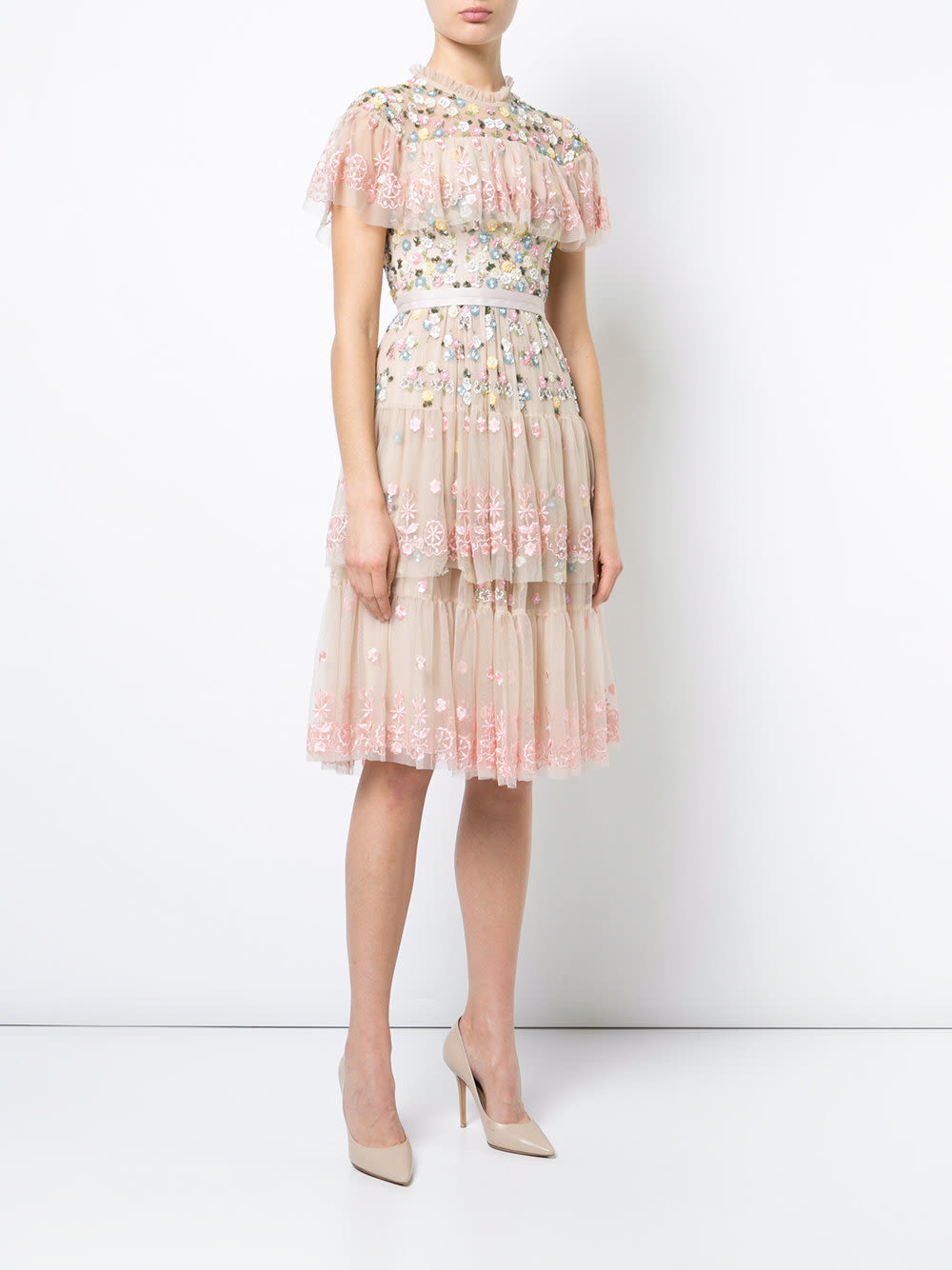 Needle   thread floral embroidered shift dress  courtesy farfetch s0xrwk