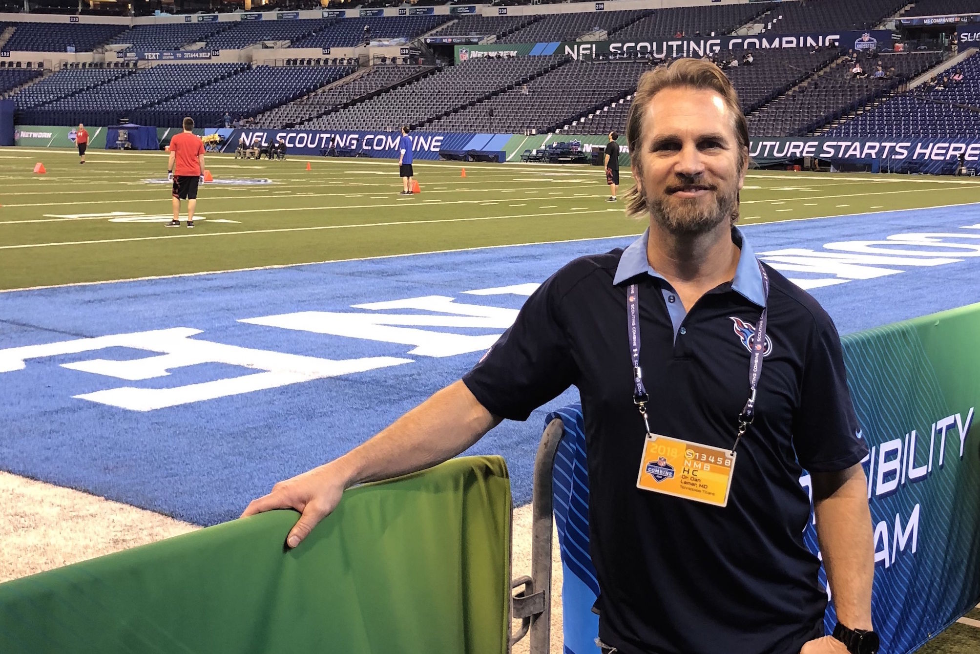 Dr. daniel lamar at the nfl scouting combine untxmv